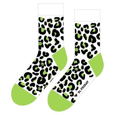 Носки St. Friday socks Леопард, который объелся мятного мороженного