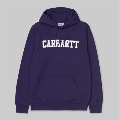 Carhartt WIP толстовка Hooded College Sweatshirt ROYAL VIOLET / WHITE