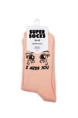 Носки SUPER SOCKS I Miss You (Размер носков 40-45, ЦВЕТ Розовый )