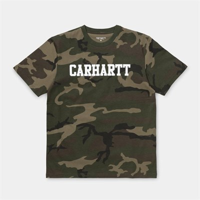 Carhartt WIP Футболка S/S College T-Shirt CAMO LAUREL / WHITE.