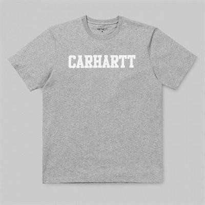 Carhartt WIP Футболка S/S College T-Shirt GREY HEATHER / WHITE.