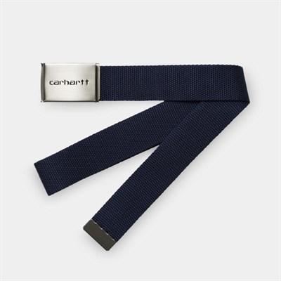 Carhartt WIP Ремень Clip Belt Chrome BLUE.
