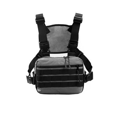 Нагрудная сумка ТАЙНА рефлектив серый