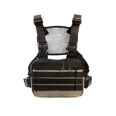 Нагрудная сумка ТАЙНА таслан бежевая/черная