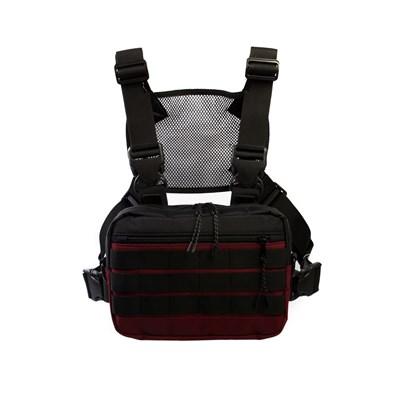 Нагрудная сумка ТАЙНА таслан бордо/черная