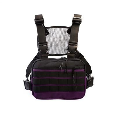 Нагрудная сумка ТАЙНА таслан фиол./черная