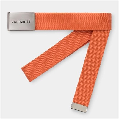 Carhartt WIP Ремень Clip Belt Chrome CLOCKWORK