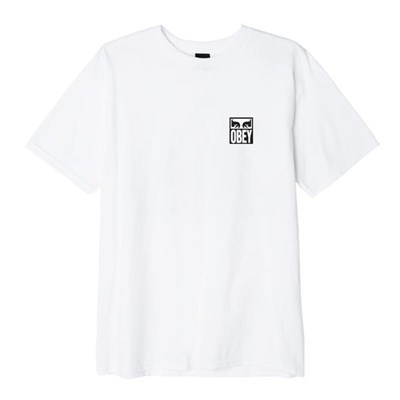 Obey Футболка кор. Рукав OBEY EYES ICON 2 WHITE 166912142