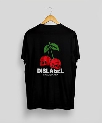 Футболка Dislabel Cherry Skull черная