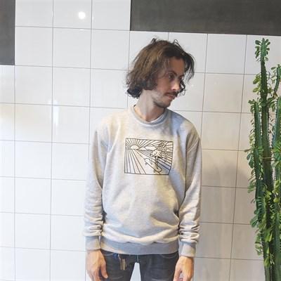 Oldy свитшот skate серый