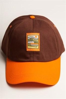 Бейсболка ЗАПОРОЖЕЦ Classic Cap Brown/Orange