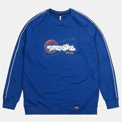 Свитшот SPECIAL winter 19\20 синий оранж лого
