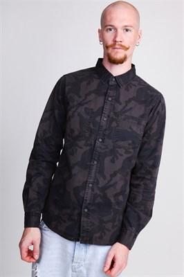 Рубашка URBAN CLASSICS Camo Shirt Dark Camo
