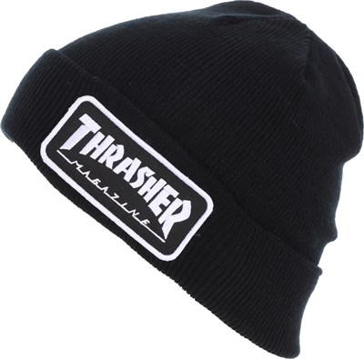 Thrasher Шапка LOGO PATCH BEANIE BLACK