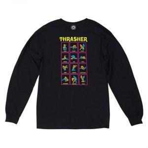 Thrasher лонгслив BLACK LIGHT L/S black