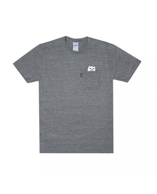 RIPNDIP Футболка Lord Nermal Pocket Tee Heather Grey