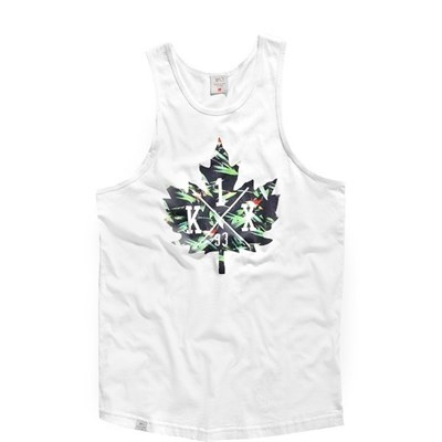 K1X oahu leaf tank top white