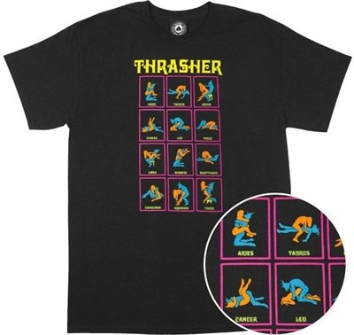 Thrasher футболка BLACK LIGHT S/S black