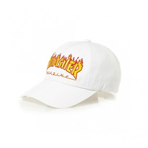 Thrasher Кепка FLAME OLD TIMER HAT WHITE
