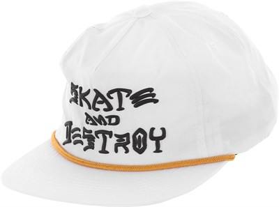 Кепка Thrasher SKATE & DESTROY PUFF INK SNAPBACK White
