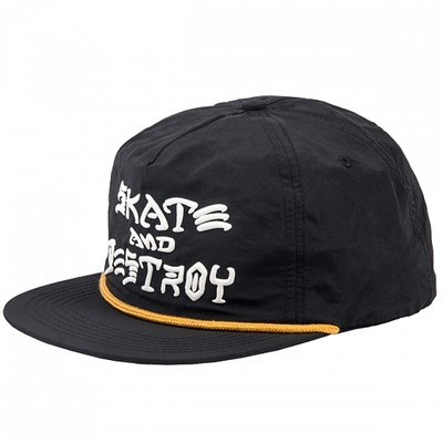 Кепка Thrasher SKATE & DESTROY PUFF INK SNAPBACK BLACK