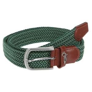 Ремень ЗАПОРОЖЕЦ Classic Elastic Belt (Зеленый (Green/Beige), 125 см)