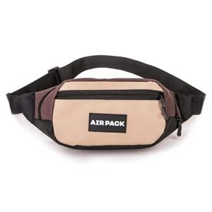 Поясная сумка AIR PACK  бежевый\коричневый (Размер: OS )
