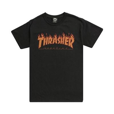 Thrasher футболка FLAME HALFTONE S/S black