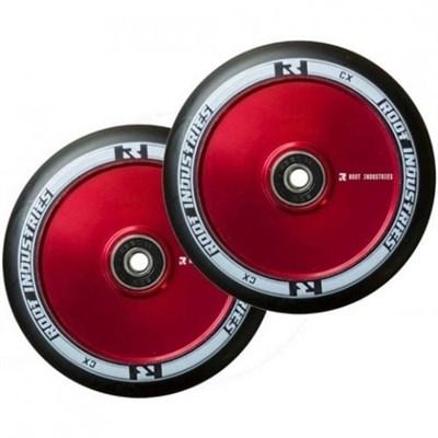 Упаковка колес 2 шт RI 110 mm  черно/красные NEW