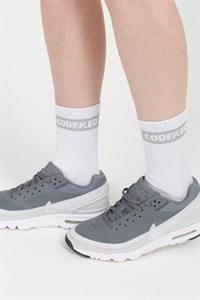 Носки средней длины Boxlogo Sock Белый/Светло-Серое Лого