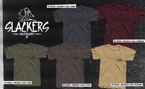 Футболка slackers logo maroon