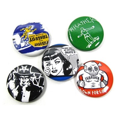 Значки THRASHER  USUAL SUSPECTS BUTTONS (5-PACK)