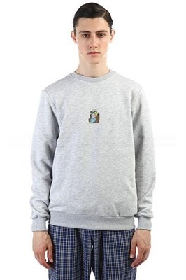 Юнион Свитшот Rocket boy, цвет серый меланж , 100% хлопок