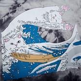 Лонгслив RIPNDIP Great Wave L/S Grey Tie Dye - фото 10299