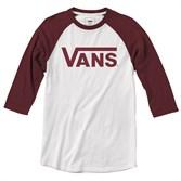 Vans Футболка V002QQTD3 VANS CLASSIC RAGLAN white-rhumba red - фото 13775