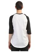 Юнион Футболка двухцветная с рукавом 3/4 Logo, цвет черно-белый, 100% хлопок - фото 6823