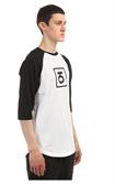 Юнион Футболка двухцветная с рукавом 3/4 Logo, цвет черно-белый, 100% хлопок - фото 6824