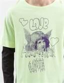 Лонгслив с двойными рукавами ZIQ & YONI LOVE AW18 неон/черный - фото 6862