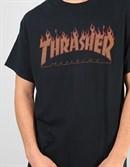 Thrasher футболка FLAME HALFTONE S/S black - фото 7492