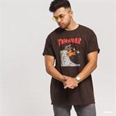 Thrasher футболка NECKFACE INVERT S/S brown - фото 7494