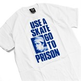 Футболка Thrasher USE A SKATE GO TO PRISON white - фото 8200