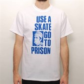 Футболка Thrasher USE A SKATE GO TO PRISON white - фото 8201