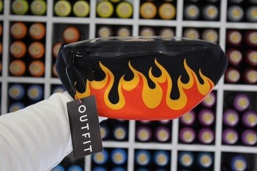 Поясная сумка BLOCK-P Пламя жел. - фото 21367