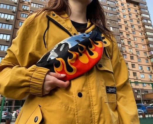 Поясная сумка BLOCK-P Пламя жел. - фото 21368