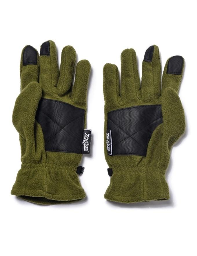 Перчатки ZIQ&YONI LOGO AW17 оливковые - фото 6661