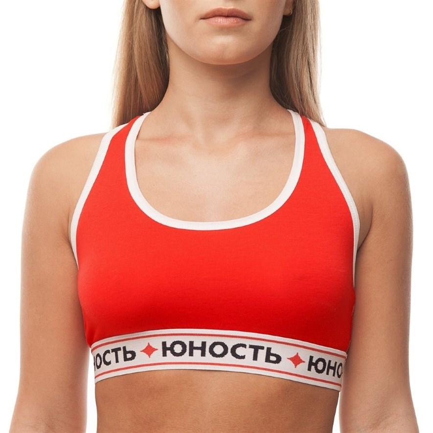 Юность Топ спортивный женский «Команда'17» Красный - фото 9017