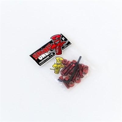 Комплект винтов Footwork SHINY RED шестигранник, с ключом