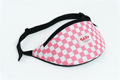 Oldy поясная сумка checkers pink/white