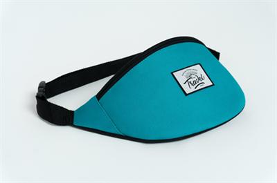 Travel поясная сумка logo cream dk blue