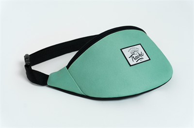 Travel поясная сумка logo cream green